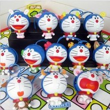 High Quality Lovely Cartoon Doraemon PVC Figures Toy, Doraemon PVC Home Decoration CAN PLAY GAME(12pcs/set)(China (Mainland))