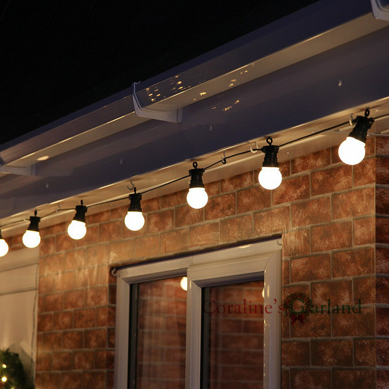 Nolvety Waterproof 10 Bulbs White Big Globe G50 Connectable Outdoor Use Festoon Party String Christmas Holiday Garland Lights(China (Mainland))
