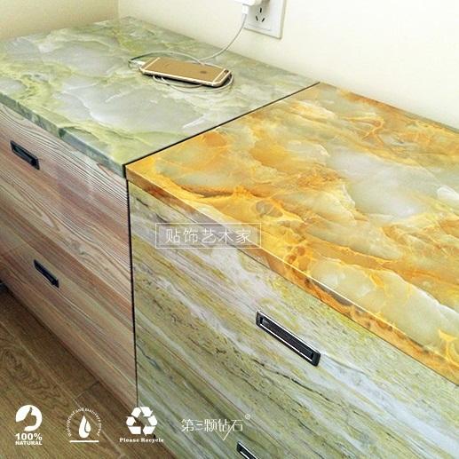 Buy marble waterproof vinyl self adhesive wallpaper for Self adhesive bathroom wallpaper