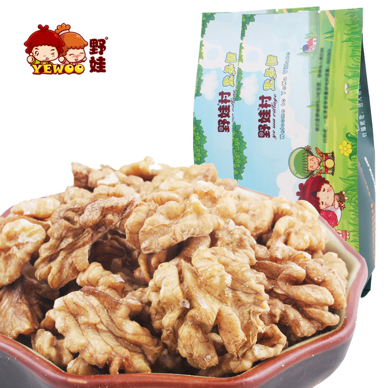 [] New goods wild baby specialty snack nuts roasted snack raw walnut kernel walnut meat 180g * 2 bags(China (Mainland))