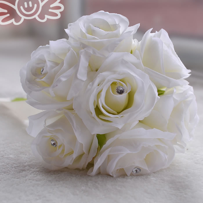 Petite Rose Peony Silk Flowers Bridal Bouquets bridesmaid Wedding Bouquet Flower Decoration FW204(China (Mainland))