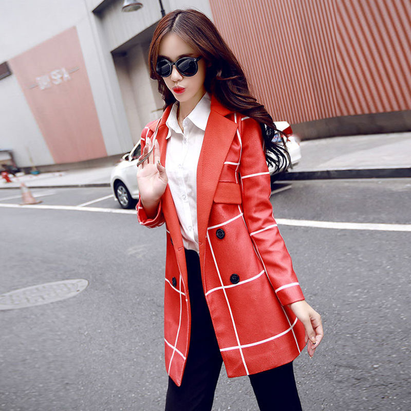 2016 Autumn and Winter New European and American Women's New Large Size and Long Sections Slim Woolen Coat L75