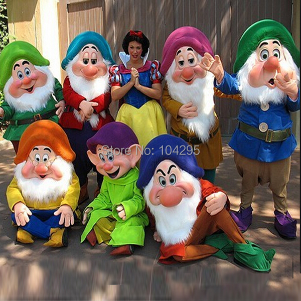 ohleesReal Pictures Deluxe Dopey doctor Bashful Seven Dwarfs Mascot costume Adult SIZE Halloween Easter party custom made(China (Mainland))