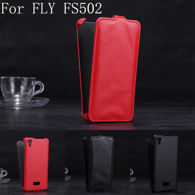 Роскошные личи шаблон флип кожаный чехол для Fly FS502 перистые 1 кожаный цвет черный, Красный