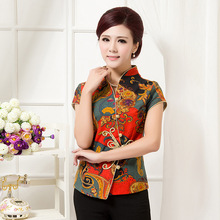 Summer New Chinese Style Women Cotton Linen Tang Suit Tops Blouse Vintage Traditional Chinese Shirt L XL XXL XXXL 4XL 5XL T11