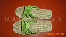 Green sandals hemp slippers handmade hemp shoes natural sandals massage sandals