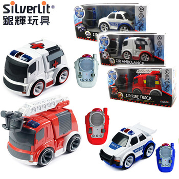 Silverlit toys electric wireless infrared remote control car rescue vehicle series fire truck 81130