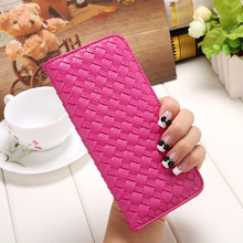 8 color Long style woman wallet with PU 2016 new fashion women's purse Solid color visiting cards high quality women purses