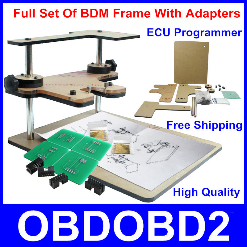 High Quality BDM Frame Programmer Support BDM100 Programmer FG Tech Galletto V54 CMD Full Adapters ECU Chip Tuning Tool(China (Mainland))