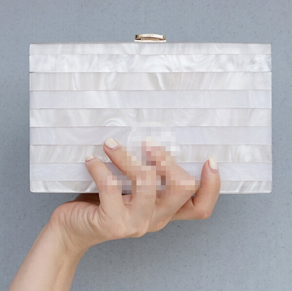Women messenger bags Clutch Bag 2016 Women Bags Transparent Pearl white Perspex Clutch Evening Handbag Acrylic Bag(China (Mainland))