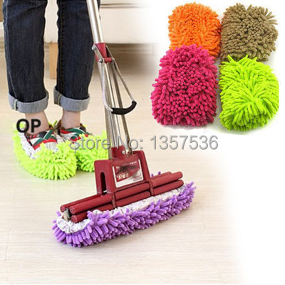 (Track Number) Free Shipping Lazy Dust Cleaner Slipper Shoes Cover House Bathroom Floor Cleaning Mop eOLZ(China (Mainland))
