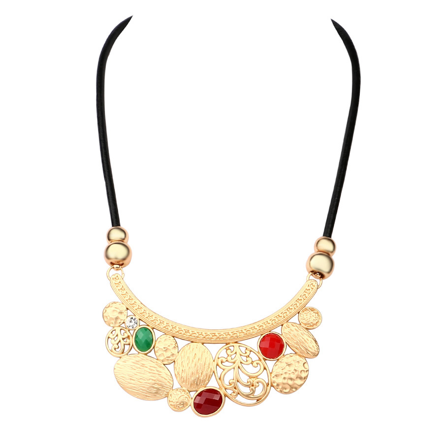 2016 Milan Fashion Week Jewelry Boutique Women Matte Gold-Plated Ruby Necklace And Wedding Party Dress With Jewelry Of Choice(China (Mainland))