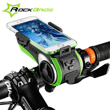 Buy RockBros Bicycle Accessories Bike Light Bicycle Lamp Waterproof Moto Bike Phone Holder Double Led Lights Usb Charger Headlight for $59.98 in AliExpress store