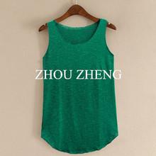 Spring Summer New Tank Tops Women Sleeveless Round Neck Loose T Shirt Ladies Vest Singlets(China (Mainland))