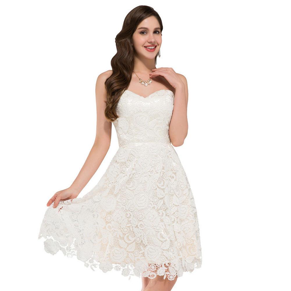 Aliexpresscom buy new fashion women sweetheart white for Formal short dresses for weddings