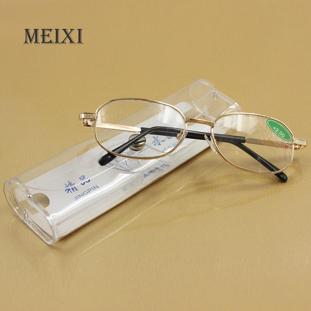 Full metal frame glass lenses female male Reading Glasses Women Men Eyewear 1.0 1.5 2 2.5 3 3.5 4 4.5 5 5.5 6