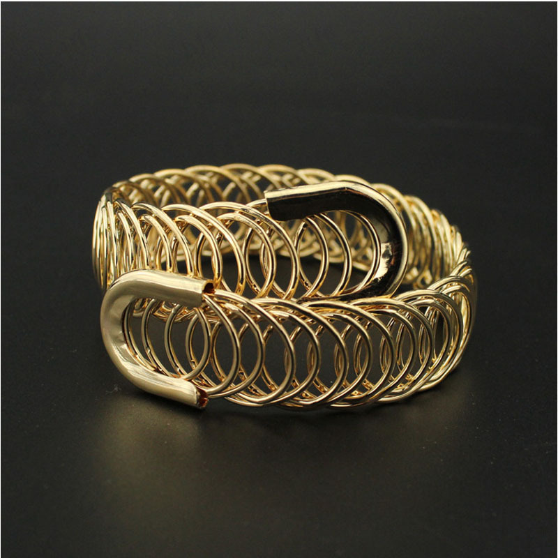 Bracelets For Women Jewelry Charm Metal Opening Bangle Bracelets Plated Spring Steel Wire Bracelet Bangles For Women Top Quality(China (Mainland))