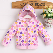 2014 NEW arrival terry cotton 100 kid's hoody  jacket  2T 3T with cute cartoon summer  forest