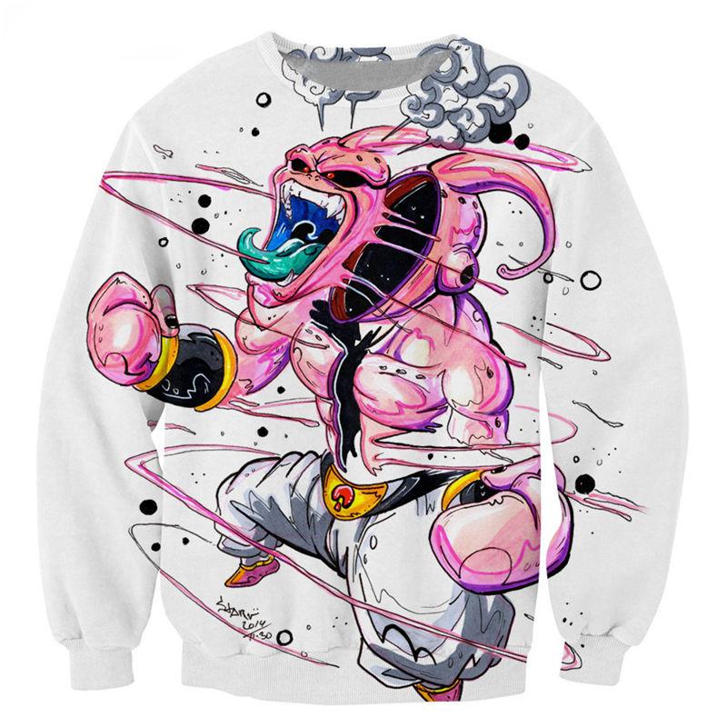 Autumn Winter New Long Sleeve Fashion Hoodies Men Women Kid Buu Dragon Ball Z Print 3D Sweatshirt Cartoon Hoodies Homme Tops(China (Mainland))
