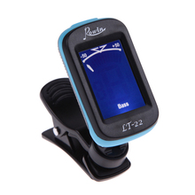 Electrical Clip-on LCD Display Guitar Tuner 360 Degree Reversible Clip Tuner for Guitar Chromatic Bass Violin UkuleleTune US#V(China (Mainland))