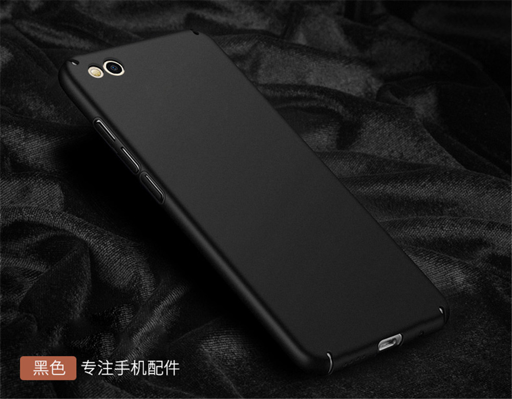 Free tempered glass! For Xiaomi Mi5c case matte pc back cover case for mi 5c cases and covers original accessories