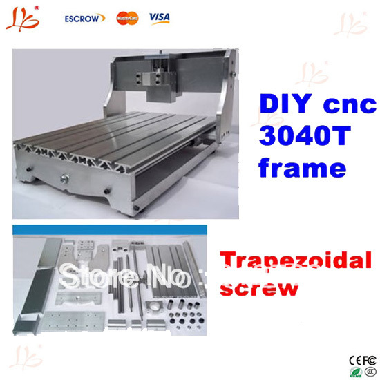 DIY cnc 3040 T frame parts, mini cnc engraving machine router lathe bed with Trapezoidal screw(China (Mainland))