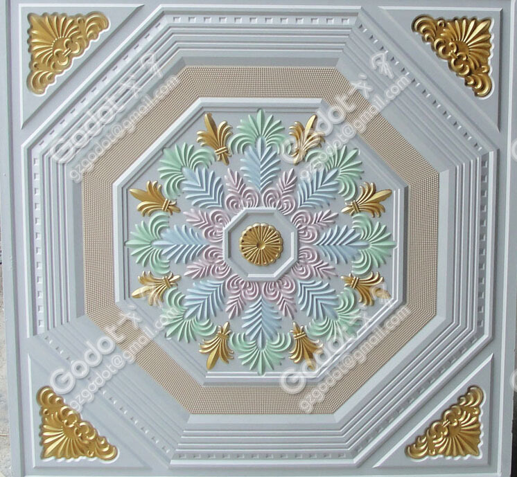 fiberglass colour gypsum ceiling tile for home decoration