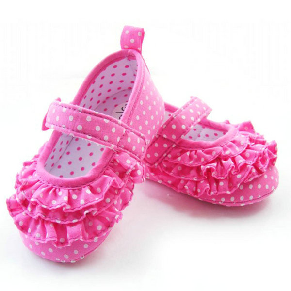 Baby Girl Rose Polka Dot Soft Sole Crib Shoes Toddler Sneaker Age 0-18 Months(China (Mainland))