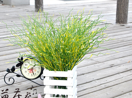 Mini Artificial Green Fresh Plantlet Plastic Grass Bush Plant Home Decoration Flowers, free shipping spring grass  MA1710
