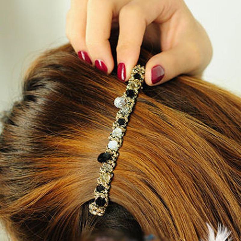 Hot Women Girls Korean Fashion Crystal Rhinestone Barrette Hairpin Clip Hair Band Accessories - ^_^ Enjoy store