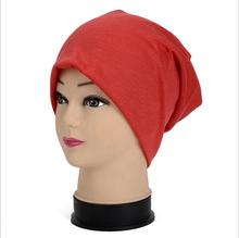 Brand New Women Winter Beanies Cotton Blended Beanie Slouch Warm Hat Festival Unisex Mens Ladies Cap Solid Color Bonnet Hats(China (Mainland))