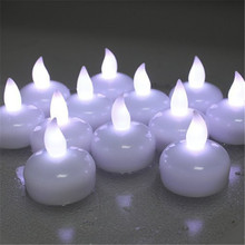Pack of 24 Cool White Water Candle Battery Operated Floating Flameless Candles Color Changing Multi Color Led Waterproof Candle