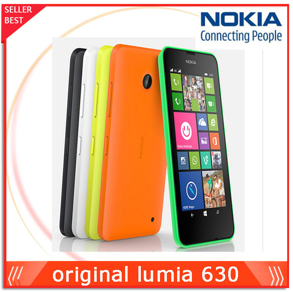 "4.5"" Original Nokia Lumia 630 Cell Phones Windows Phone 8.1 Snapdragon 400 Quad Core 1.2GHz IPS 512MB+8GB Dual Sim 3G WCDMA(China (Mainland))"