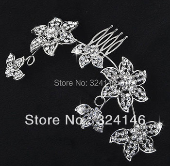 3043 handmade new crystal wedding hair jewelry hair combs bridal hairwear accessories