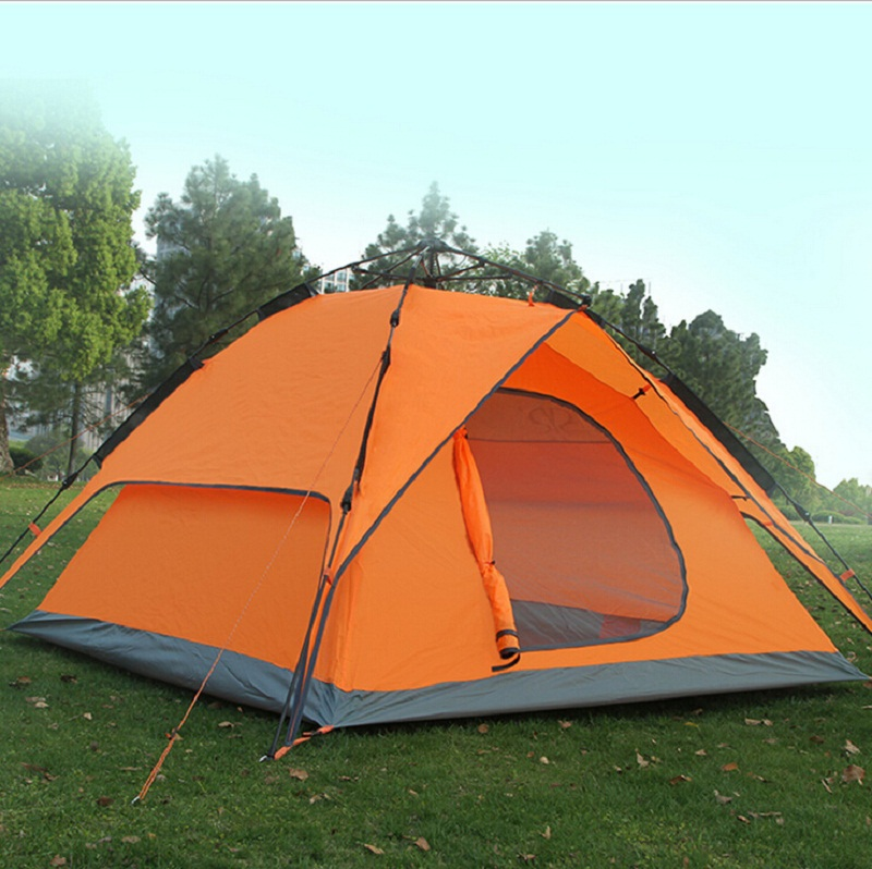Portable Double-layer Tent Waterproof Camping Tent 4 seasons Lightweight Tourist Fishing Hunting Hiking Tent 140cm Height 95R(China (Mainland))