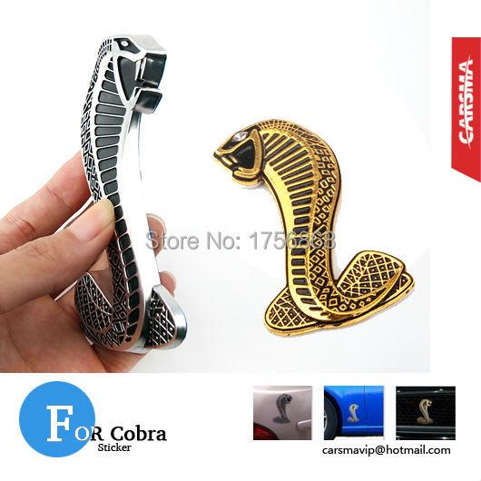 DHL 50 Pair 100pcs Viper Mustang Snake Side Grill Cobra Badges Emblem Adhesive Wrap Motor Part Car Styling Accessories Badge(China (Mainland))