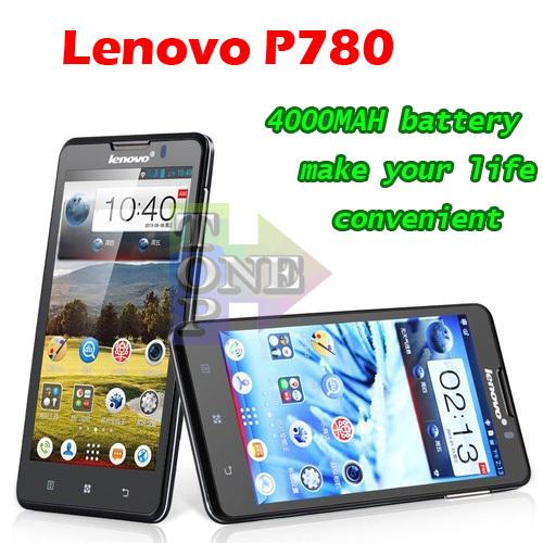 4000mah battery Lenovo P780 MTK6589 Quad Core Mobile Phone 5 inch IPS 1280x720px Android 4.2 GPS Multi language(China (Mainland))