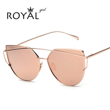 2016 NEW Brand Designer Women Sunglasses Metal Frame Flat Sun glasses Vintage Mirror Shades ss495(China (Mainland))
