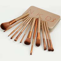 12 pz professionale new nudo 3 spazzole di trucco tools set nk3 compone le spazzole kit pinceaux maquillage pennello bellezza shiping libero