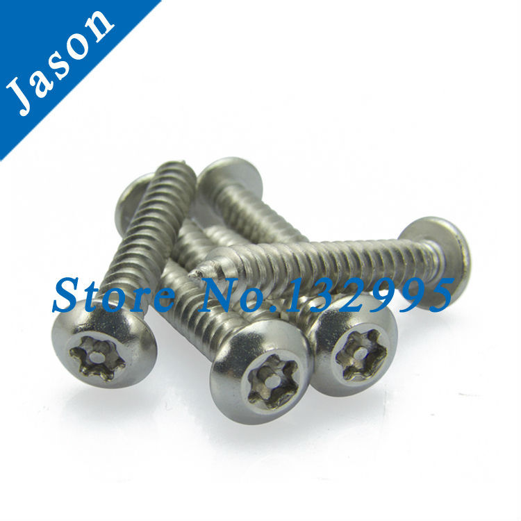 M2.9*19  Stainless Steel A2 round head self-tapping anti-theft screw, SUS 304 Round head self tapping torx screw M2.9*L<br><br>Aliexpress