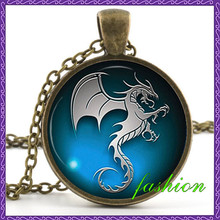 New Stunning 19 Style Dragon Necklace Handmade Dragon Jewelry Long Photo Necklace Charm Fantasy Blue Dragon