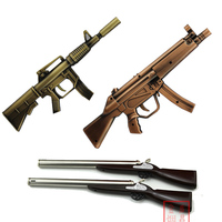Long tube inflatable lighter kitchen electronic ignition tools cigarette lighter submachine gun M 4 AK 47 MP 5 style