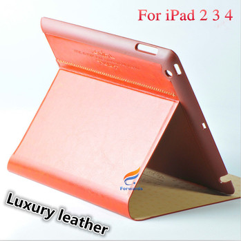 Magnetic Front Smart Skin +Hard Back PU leather Stand Cover for iPad 4 case iPad2 iPad3 ipad4 phone bag free shipping 1 piece