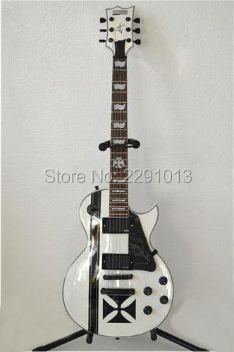 Wholesale -Free Shipping Custom Shop White James Hetfield Mahogany Electric Guitar ESP Guitars(China (Mainland))