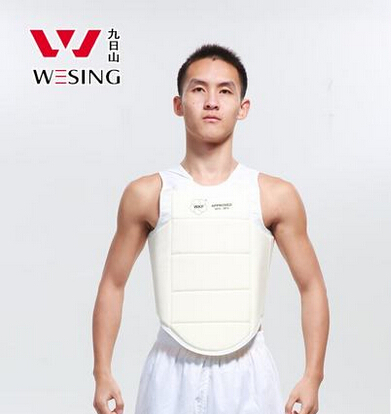 Здесь можно купить  free shipping oxford fabric foam lining mesh s m l xl size men karate chest protector approved by wkf   Спорт и развлечения