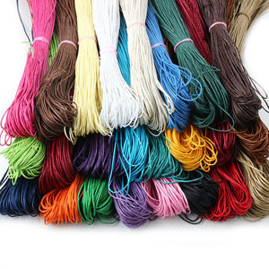 20meters/lot 1.5mm Waxed Leather Thread Cotton Wax Cord Chain Bulk Rope String Strap Wholesale Fit Shamballa Bracelet Y1133(China (Mainland))