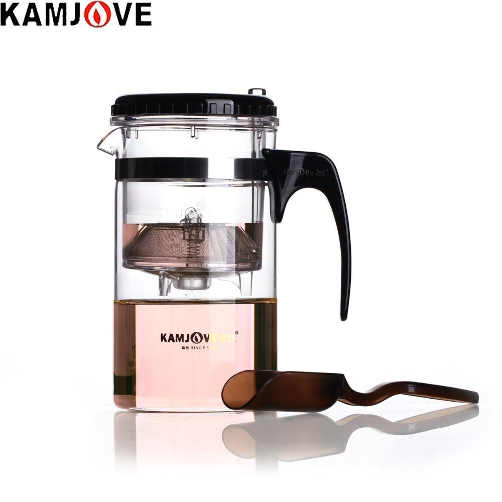 free shipping Kamjove Tp-200 tea cup belt kung fu tea 1000ml glass teapot elegant glass cup filter cup(China (Mainland))
