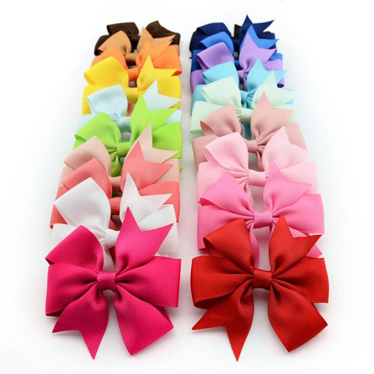 20 pcs/lot  3 inch Baby Girl Hair Bows Clips Boutique Hair Pin Grosgrain Ribbon Bows Hairpins Kids Headwear Hair AccessoriesОдежда и ак�е��уары<br><br><br>Aliexpress