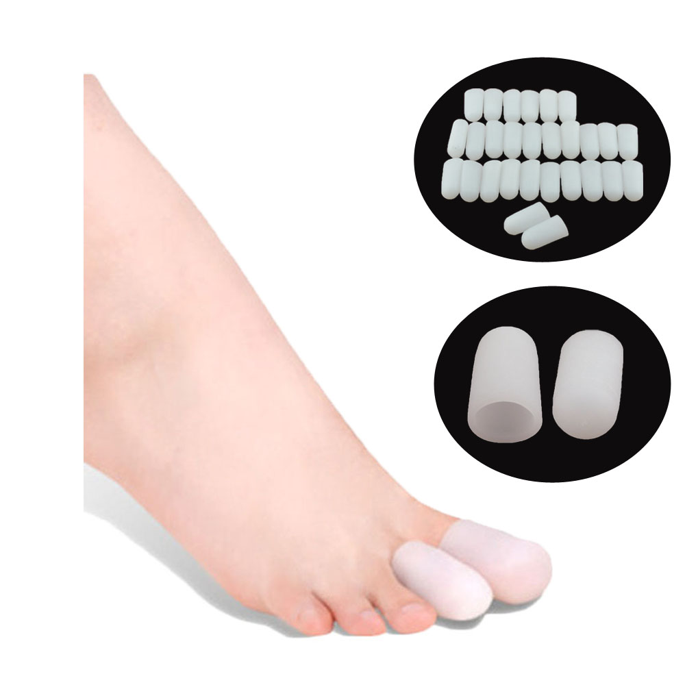 60Pcs Silicone Toe Finger Protector Gel Toe Tube Foot Corns Remover Blisters Gel Bunion Feet Massager Insoles Body Massage C197(China (Mainland))