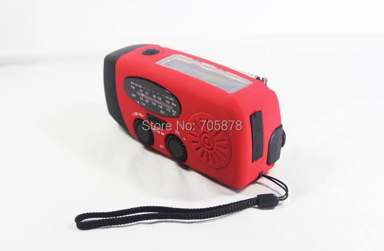 AM/FM Solar Radio 40pcs Hand Crank Radio Dynamo With LED Flashlight Protable Generator Emergency Recharger For Phone